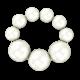 Браслет из крупного белого жемчуга Ламбре 16 см