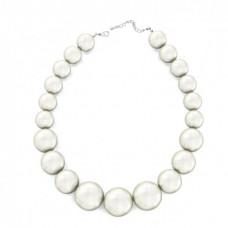 Ожерелье из крупного белого жемчуга Ламбре 46 см
