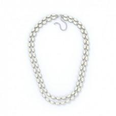 Двойное ожерелье из белого жемчуга 45 см
