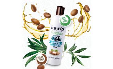 Увлажняющий шампунь с аргановым маслом Inecto Naturals Argan Shampoo Lambre