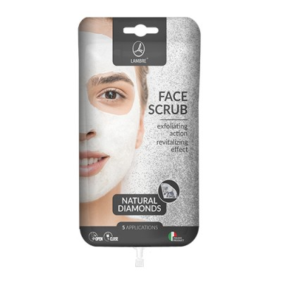 Скраб для лица с алмазами lambre FACE SCRUB DIAMONDS саше 15мл
