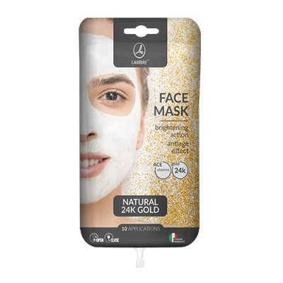 Маска с натуральным 24-каратным золотом lambre Face Mask Gold саше