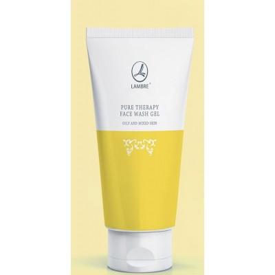 Гель очищающий для лица для жирной и комбинированой кожи Lambre Pure Therapy Face wash gel Dry and sensitive skin