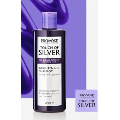Шампунь от желтизны светлых волос Touch Of Silver Brightening Shampoo Lambre