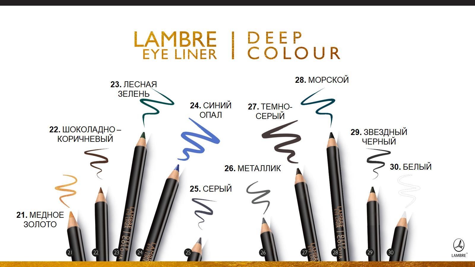 карандаш для глаз ламбре